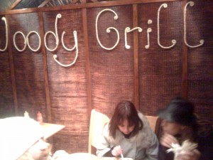 The ever tasteful decor of The Woody Grill