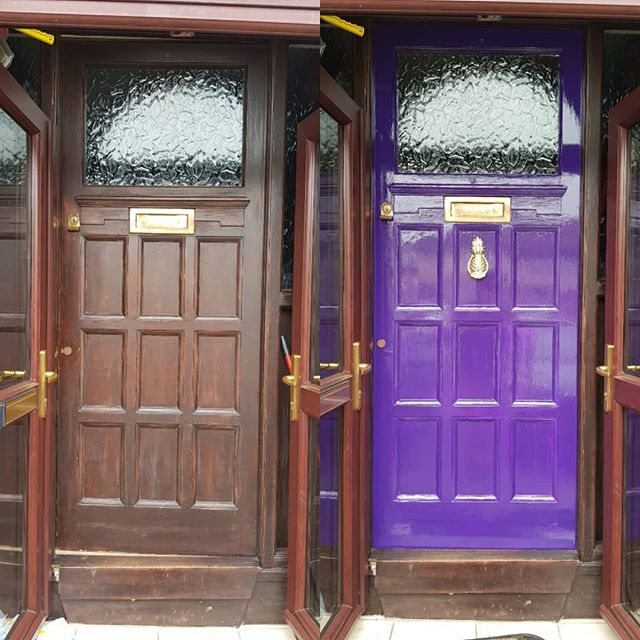 Ah, that's MUCH better! #whatsbehindthepurpledoor #niceknockers #pineapplesofinstagram