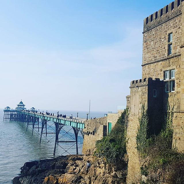 We wandered past Clevedon Pier yesterday. Grade 1 listed. I wonder what it would have looked like in its heyday?