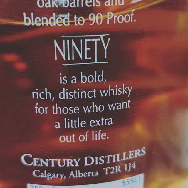 Enjoying a seldom seen (round here) Canadian dram tonight at Bristol Whisky, and were quite taken by the descriptive text. One has to wonder – did that ever swing a sale?