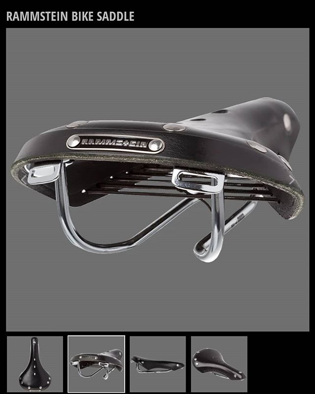 """Rammstein are a pretty specialist band, no? Upon learning that their online merch shop sells promotional bicycle saddles, my response was, """"Yeah, that makes sense""""."""
