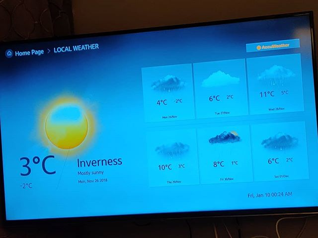 I don't want to say Scotland is stuck in the past, but my hotel telly is giving me some frankly irrelevant weather advice. #youreallwatchingrerunsanywaysoitdoesntmatter