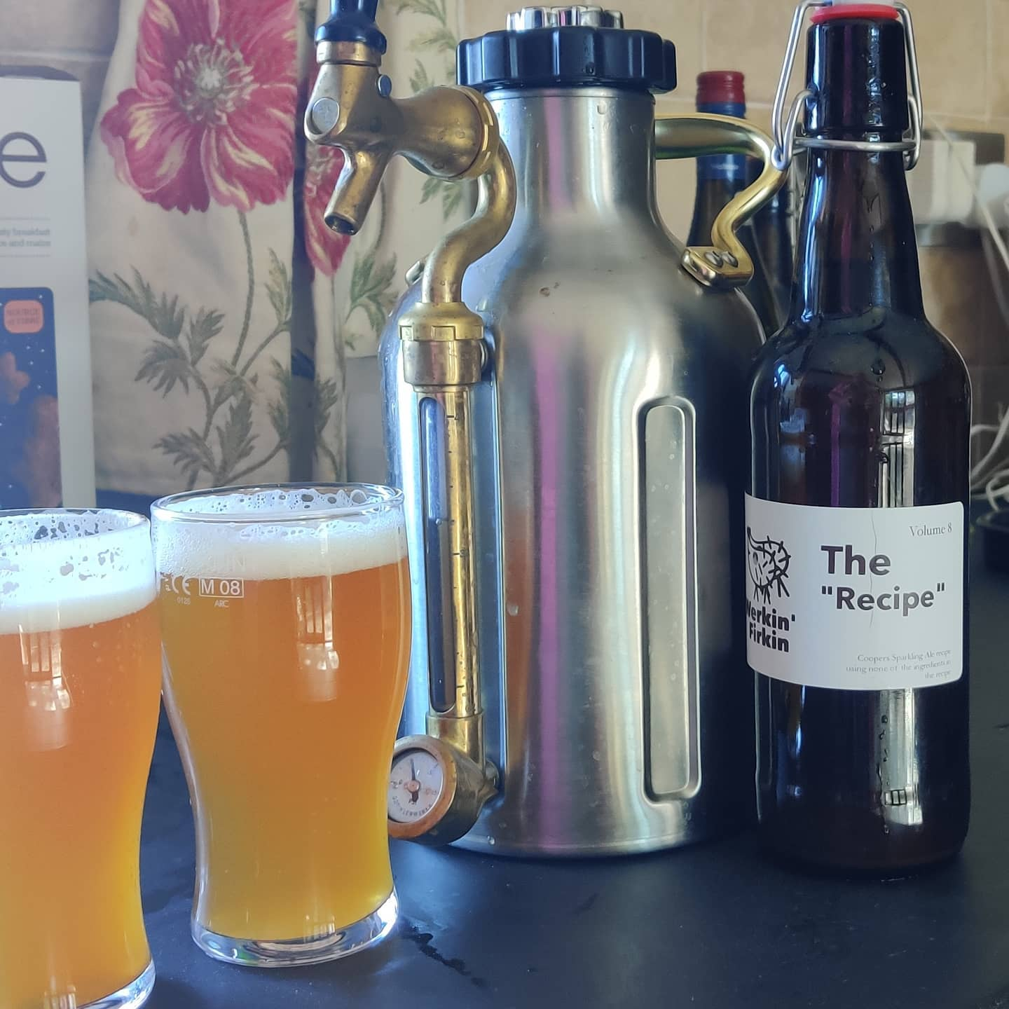 The 8th instalment in our homebrew adventures - we call this one The Recipe. Its loosely based on a Coopers Sparkling Ale recipe, except we didn't actually have any of the ingredients mentioned. So, same proportions but different gear. Using a Kveik yeast. Verdict? Probably won't kill you.
